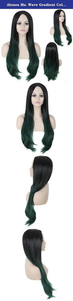 Alonea Ms. Wave Gradient Color Wig High Temperature Silk Fiber Hair Sets (Green). Description: Our wigs are made of high quality Chemical fiber high temperature wire, and every wig is handmade by skillful workers, the quality is guaranteed. The wig is on an adjustable net-cap that fits small or large head sizes. Contain: 1 PC Ms. Wave Gradient Color Wig High Temperature Silk Fiber Hair Sets.
