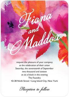 Blooms wedding invitation design