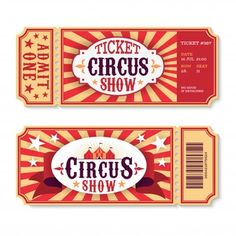 Papel Vintage, Vintage Circus, Vintage Paper, Circus Party Games, Circus Theme, Circus Circus, Circus Tickets, Party Tickets, Coraline