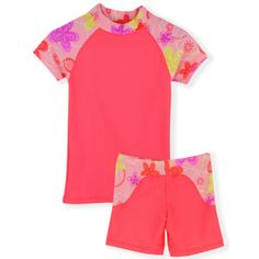 8d24398667c Girl's SURFER GIRL Fashionable 3 Piece Set by TUGA in PEACH. Includes  Rashguard, Swim