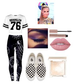 """The Debut"" by xoxohugsxoxo ❤ liked on Polyvore featuring Boohoo, Jouer, Vans and Lime Crime"