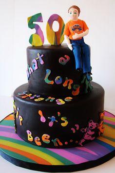 50th Birthday Cakes NJ - Grateful Dead Custom Cakes