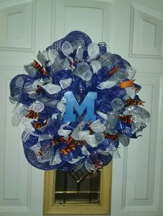 UM Tigers wreath Visit my FB page at A Work in Progress