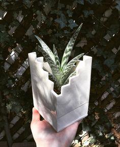 Terrace Planter  | Carvedbylisa on etsy | Lisa Patusky | #ceramics #etsy #handmadeceramics #lisapatusky