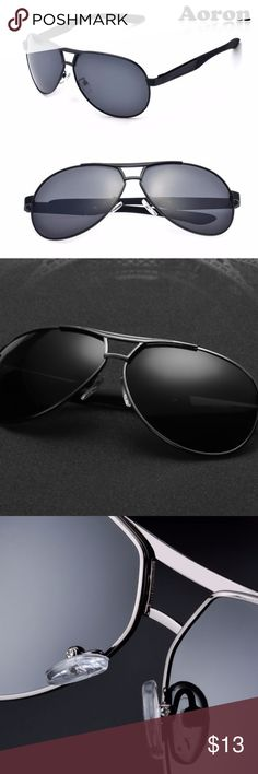 Aoron-HD Polarized Driving Sunglasses Men BLACK F YOU LIKE ANY ITEMS; MAKE AN OFFER. DON'T MISS BCZ OF PRICE! I WILL HANDLE THE REST :)) Eyewear Type: Sunglasses Item Type: Eyewear Customized: Yes Department Name:Adult Style: Aviator/Pilot Brand Name: Fashion Sunglasses Gender: Men Lenses Optical Attribute: Polarized Frame Material: Alloy Frame Color: Black Lens Width: 6.2 cm Lens Height: 5 cm Function sunglasses: Anti UVA, prevent uvb, polarized Whether adjustable: radin mirror, frames…