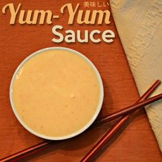 Try this EASY yum yum sauce recipe that is the closest duplication we've ever made to the Japanese steak house sauce. Add a little spice and it's the same as PF Chang's! by tammi Yum yum sauce recipe similar to what we get at Japanese steakhouses. Copycat Recipes, Sauce Recipes, Cooking Recipes, Cooking Games, Fast Recipes, Cooking Tips, Healthy Recipes, I Love Food, Bon Appetit