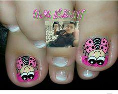 Flower Nail Designs, Flower Nails, Toe Nails, Pedicure, Hair Beauty, Nail Polish, Nail Art, Pretty Pedicures, Nail Art Designs