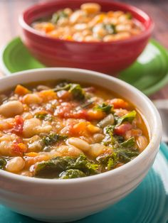 Pressure Cooker Tuscan Bean Soup recipe. A hearty vegetarian soup from the heart of Italy, done in no time thanks to the pressure cooker.