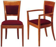 Beautiful handmade chairs by Thomas Moser.  I prefer the navy velvet.