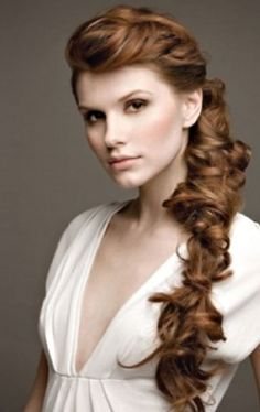 romantic braid wedding hairstyle by marisol