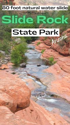 Everything you need to know to travel to Slide Rock State Park. Arizona Travel, Arizona Usa, Packing List For Vacation, Vacation Trips, Road Trip Destinations, Us National Parks, Water Slides, United States Travel, Canada Travel