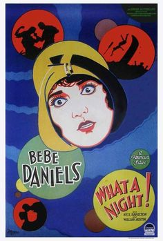 Vintage Movie Poster - 1928 What a Night