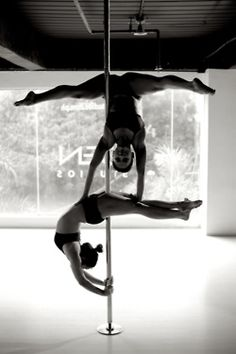 Suprising though it may seem, team work is an integral part of success in pole fitness. Even if you're not on the pole with someone, there's usually somoenone at your side cheering you on. We are a family. ~ Roxy Star @ROXY Star (Disclaimer: Photo is not of me. It inspires me.)