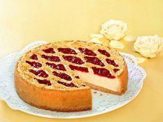 Sült túrótorta málnaszósszal - sütnijó! – Kipróbált sütemény receptek Baking And Pastry, Ricotta, Banana Bread, Waffles, French Toast, Raspberry, Bakery, Cheesecake, Lemon
