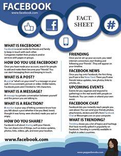 Facebook for Beginners (Information Sheet)  #Facebook #Facebook101 #Socialmedia #InformationSheet #freeprintable #freedownload