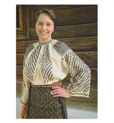 Olt, Oltenia (Wallachia) Folk Costume, Costumes, Ethnic Diversity, Folk Embroidery, Embroidery Techniques, Ukraine, Sari, Textiles, Womens Fashion
