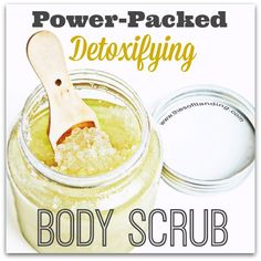 So I love body scrubs.  There's just one problem though. Most of them are filled with toxic chemicals. Grrr…But wait! I do love a challenge, so this only meant one thing to me: I had to come up with my own detoxifying body scrub. Well guess what? I LOVE how it turned out!