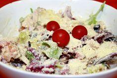 Receta de ensalada Cesar 2 Pesto, Salsa, Oatmeal, Breakfast, Food, Crochet, Grated Cheese, Appetizers, Cooking Recipes
