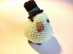 This adorable crochet bird is a perfect stuffed animal toy for a child or a bird…