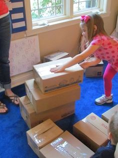 All you need is a box! Exploring boxes after reading Not a Box by Antoinette Portis. By Teach Preschool