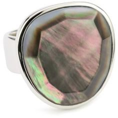 ELLE Grey Mother-of-Pearl Silver Ring