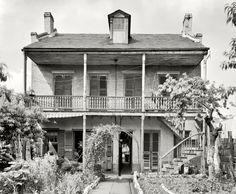 "New Orleans circa 1937. ""837 Gov. Nicholls Street."" Shorpy Historical Photo Archive :: Street View: 1937"