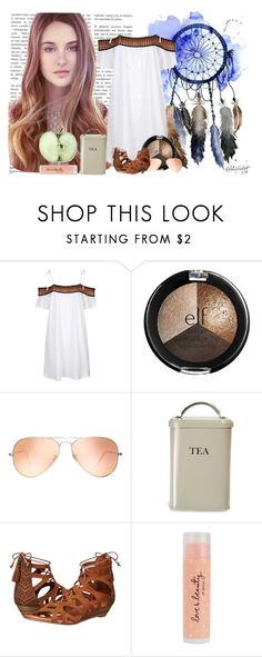 """I won't give up, no I won't give in Till I reach the end~ Try everythink Shakira"" by forver-young0001 ❤ liked on Polyvore featuring Topshop, Ray-Ban, Garden Trading, Minnetonka, Forever 21, idk, dress and Collage"