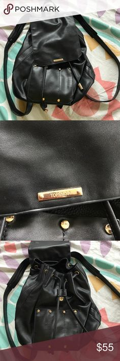 TOPSHOP Bucket Backpack Great condition. Couple of nonvisible scratches but overall great condition Topshop Bags Backpacks
