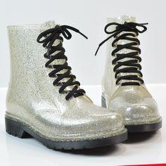 Aliexpress.com: Comprar Plata Martin moda purpurina botas de lluvia…