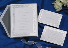 Silver filigree winter Wedding Invitations by Wedding Invitations -The Office Gal