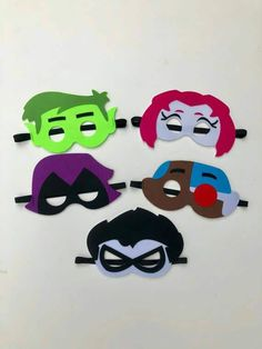 party 12 Teen Titans GO Personalize JUMBO STICKERS for Lollipops goody bags