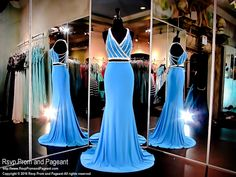 This sassy brilliant blue two piece with white beading is the perfect outfit to make a statement! It doesn't get any better with this beautifully beaded racer back! And it's at Rsvp Prom and Pageant, your source for the HOTTEST Prom and Pageant Dresses!