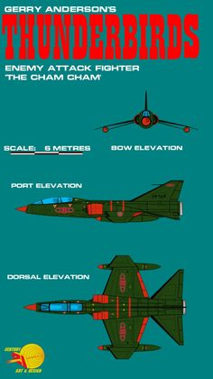 Gerry Andersons Thunderbirds Enemy Attack Fighter by ArthurTwosheds.deviantart.com on @DeviantArt