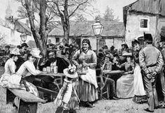 Wilhelm Gause, Vienna, 1891, Heuriger, wine, inn, tavern