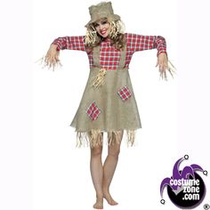 Image detail for -Women's Costumes – Halloween Costumes & Party Ideas Scar Halloween Costume, Scarecrow Costume Women, Diy Scarecrow, Halloween Kostüm, Halloween Outfits, Scarecrow Makeup, Farm Costumes, Costumes For Teens, Family Costumes
