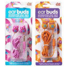 Owl ear buds to keep your ears happy!