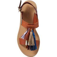 Isabel Marant Étoile Tassel-Embellished Clay Sandals