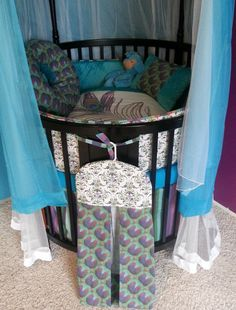 Anchor Round Crib Bedding Made To Order