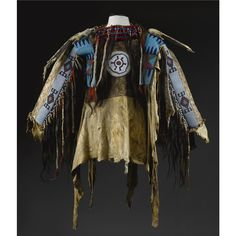 Blackfoot Beaded and Fringed Hide Man's Wearing Shirt