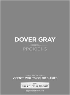 Dover Gray a Vicente Wolf Inspired Color as a part of the Vicente Wolf… Accent Colors For Gray, Grey Paint Colors, Shades Of Grey Paint, 50 Shades, Grey Exterior, Exterior Paint, Painting Trim, Diy Painting, House Color Schemes Interior