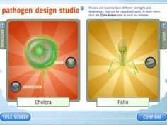 You Make Me Sick! is a bacteria and virus learning game aligned to middle school science standards. Design pathogens to spread disease and infect a variety of targets. Take on the role of a virus or bacteria to infect hosts with progressively stronger def Biology Lessons, Science Biology, Teaching Biology, Science Lessons, Stem Science, Life Science, Secondary School Science, High School Biology, 7th Grade Science