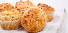 Savory Muffins or Hand Pies : Bake off a batch with bacon or cheese inside for an easy hand-held meal. via Food Network Cheese And Bacon Muffins, Savory Muffins, Savory Snacks, Mini Muffins, Egg Muffins, Cheddar Cheese, Wine Recipes, Food Network Recipes, Cooking Recipes