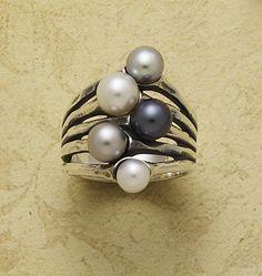 Burgeon Pearl Ring from James Avery Jewelry #jamesavery