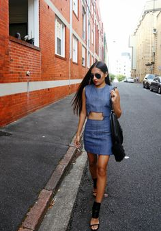 Denim Skirt styled by Inside In, Inside Out.