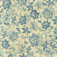 A La Maison Cotton Fabric - Dusty Blue - ATD-11523-68 by Beverlys.com