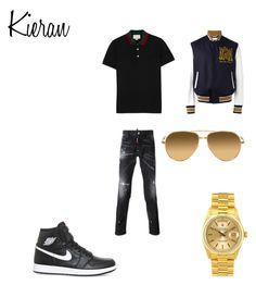 """Kieran"" by monkytails on Polyvore featuring Gucci, Dsquared2, NIKE, Rolex, Alexander McQueen, Linda Farrow, men's fashion en menswear"