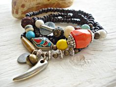 Yoga Bracelet  Coral Bracelet  Yoga Jewellery  by HandcraftedYoga, $43.00