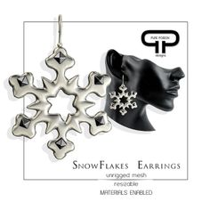 Pure Poison - Snowflakes Earrings - december Subscriber Gift | Flickr - Photo Sharing!