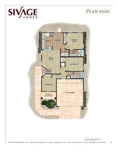 Sivage Homes 1100 Floor Plan