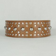 Rivet Styles 2 Inch Wide Studded Collars Dog Leather Coll...